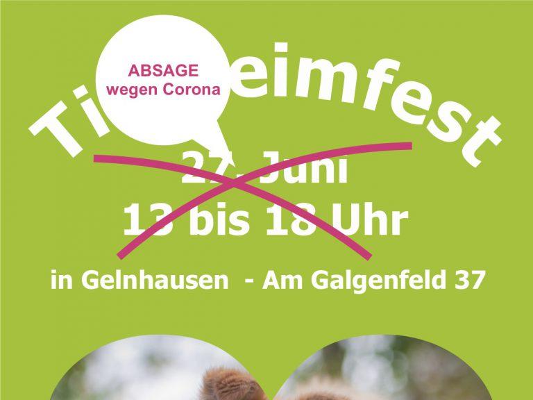 Aktuelles | Absage Tierheimfest 2020